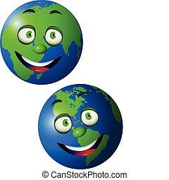 la terre, dessin animé