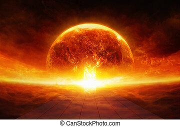 la terre, enfer
