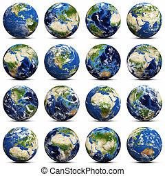 La terre, ensemble, icônes