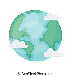 la terre, espace, style, dessin animé, astromomie, planète, galaxie