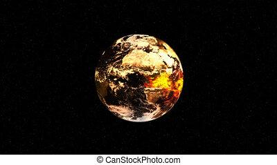 la terre, explosion