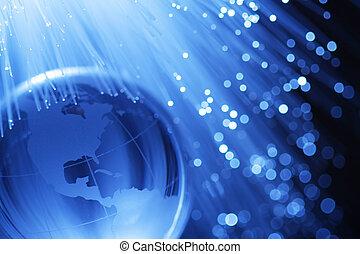 la terre, fibres optiques, &