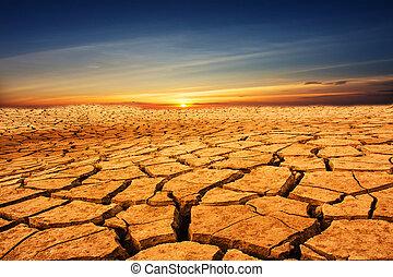 la terre, fissure