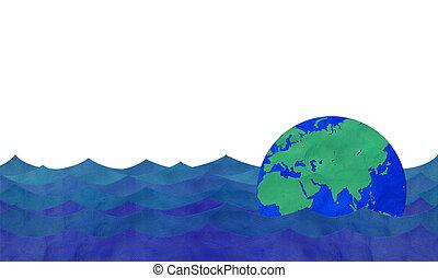 la terre, flotter