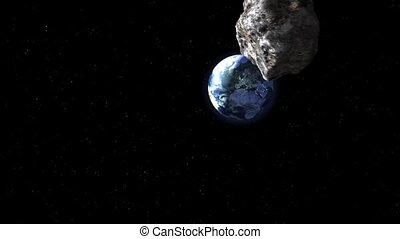la terre, frapper, astéroïde