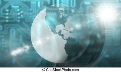 la terre, globalisation, -, lumière