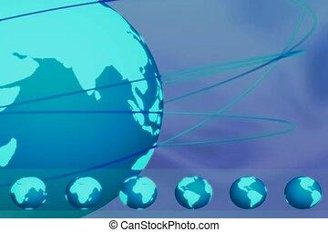 la terre, globe