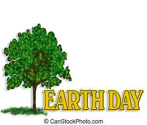 la terre, graphique, jour, 3d
