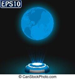 la terre, hologramme