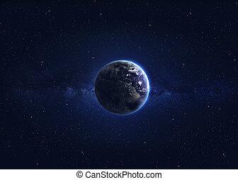 la terre, image, qualité, hight
