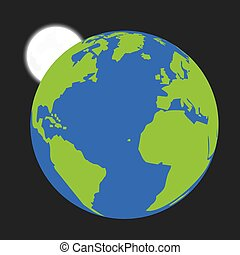 la terre, isolé, illustration