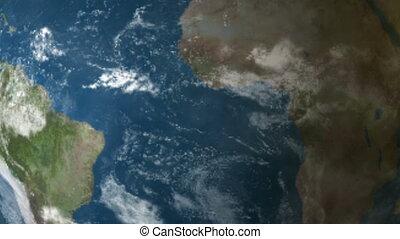 la terre, météorite