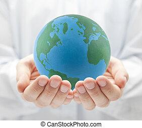 la terre, mains