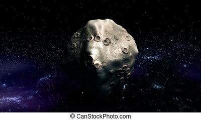 la terre, mouches, astéroïde, pour