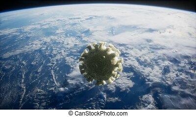 la terre, orbite, covid-19, coronavirus