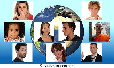 la terre, paix, gens