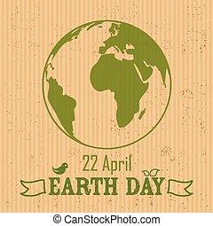 la terre, papier, écrasé, fond, jour