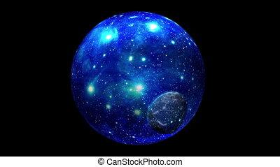 la terre, planète, bulle, bleu