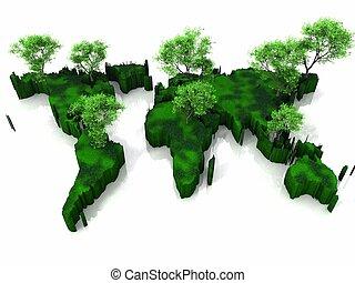 la terre, plan vert