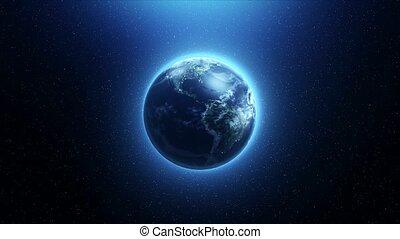 la terre, rotation, espace