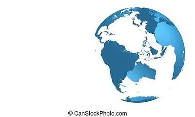 la terre, rotation, -, hd