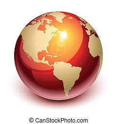 la terre, rouges