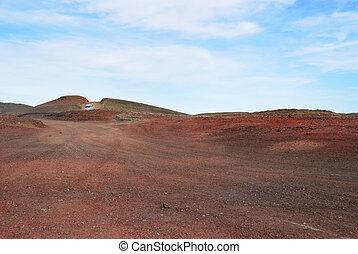 la terre, rouges, islande