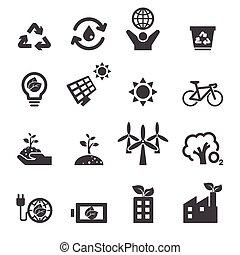 la terre, sauver, icônes