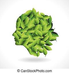 la terre, sauver, vert, penser