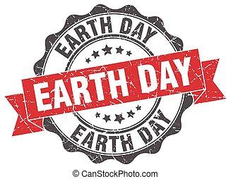 la terre, signe., stamp., jour, cachet