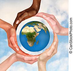la terre, symbole, globe