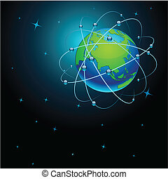 la terre, transport, space.