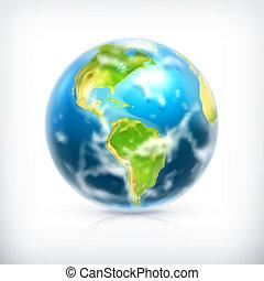 la terre, vecteur