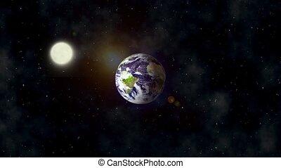 la terre, vidéo, vue, entiers, hd, sp