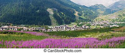 La Thuile, panoramic view
