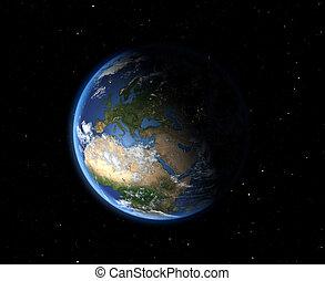 la tierra, de, space., europa