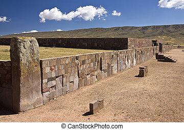 la, tiwanaku, コロンビアの前の, -, ボリビア, paz