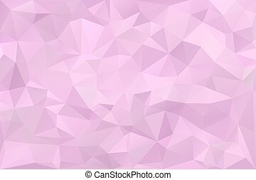 laag, poly, romantische, roze, viooltje, achtergrond