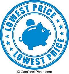 laag, prijs, vector, borg staan voor, pictogram