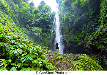 Laangan waterfall in Bali island