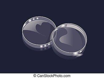 lab and petri dish