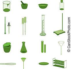 Lab Equipment icons.