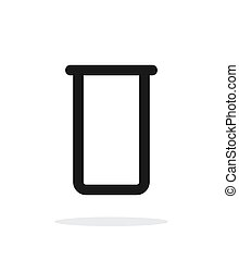Lab flask simple icon on white background.
