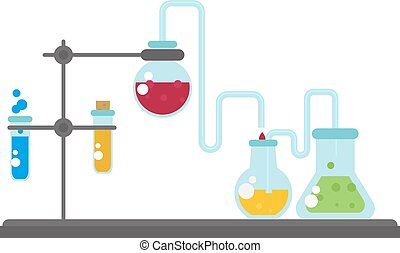 Lab flask vector illustration