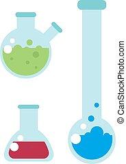 Lab flask vector illustration