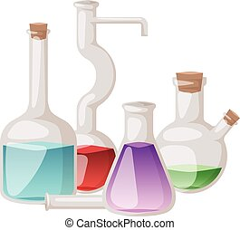 Lab flask vector set.