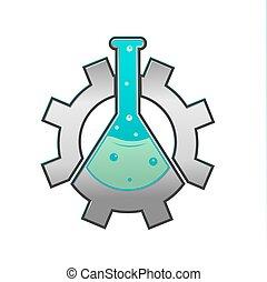 Lab Gear Logo Icon Symbol Vector