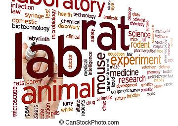 Lab rat word cloud