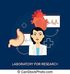 Lab Research Conceptual illustration Design