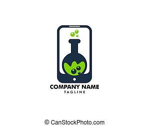Lab Smartphone Icon Logo Design Element